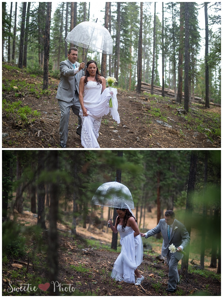 Intimate Breckenridge Wedding| Good Luck Rain and Chivalry | Sweetie Photo, Colorado Based Wedding Photography