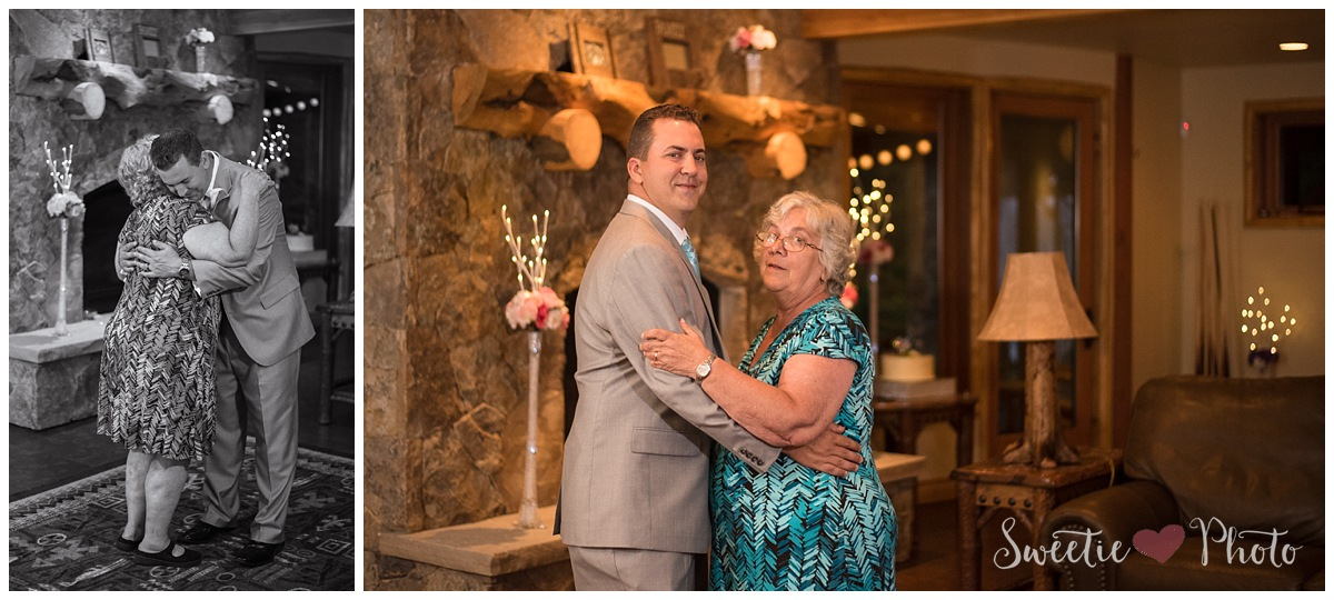 Intimate Breckenridge Wedding| Mother Son Dance| Sweetie Photo, Colorado Based Wedding Photography
