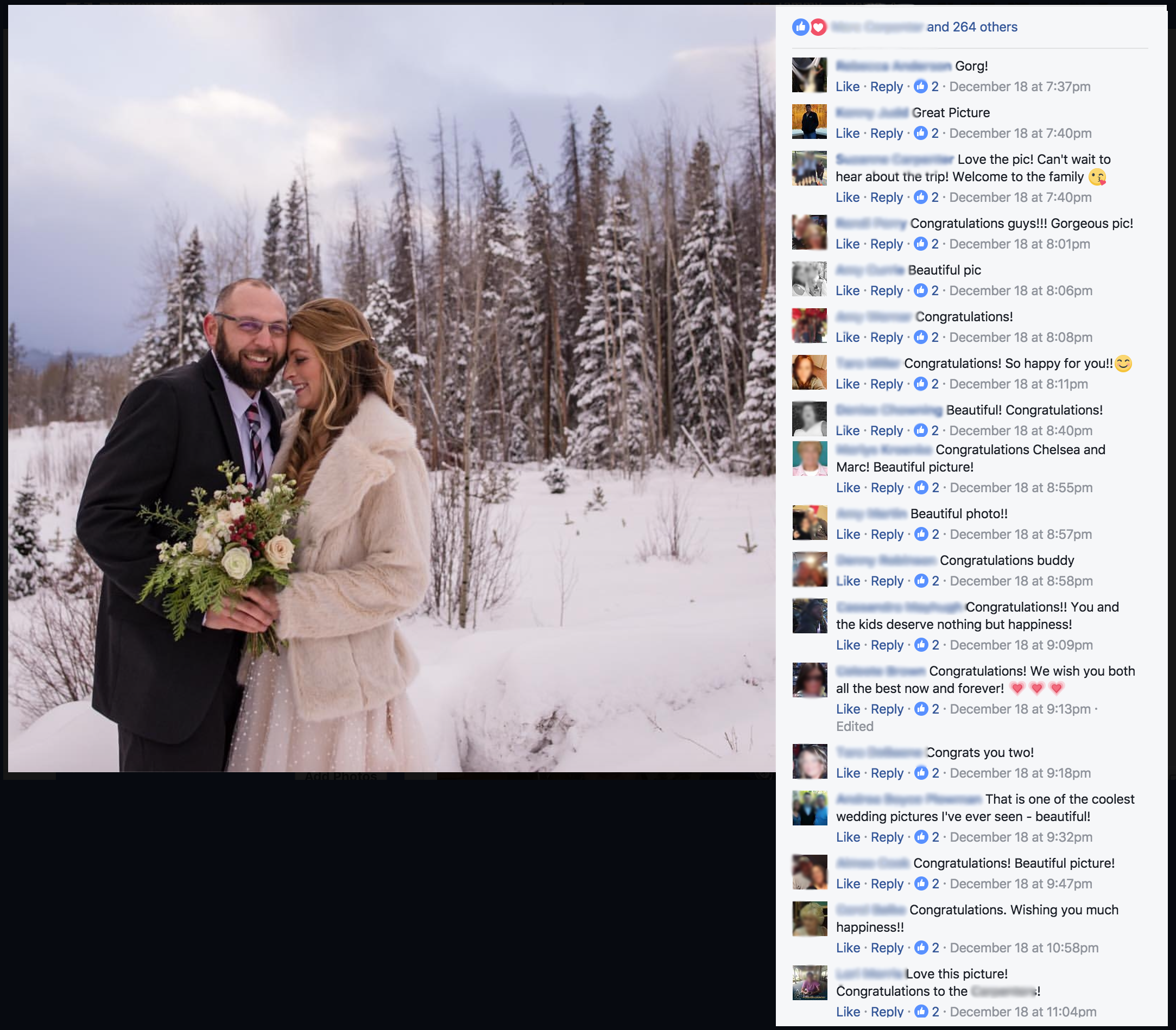 Facebook Friends Testimonial | Sweetie Photo, Lifestyle Wedding Photography, Colorado and Beyond | www.sweetiephoto.com